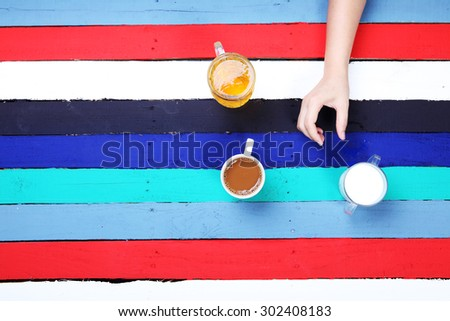 beverage for all lifestyle with colorful background. - stock photo