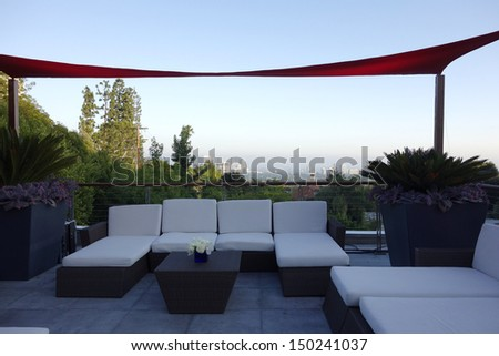 BEVERLY HILLS - AUG 15: Atmosphere at a summer celebration hosted by Delta Air Lines at a private residence on August 15, 2013 in Beverly Hills, California - stock photo