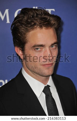 BEVERLY HILLS, CA - AUGUST 14, 2014: Actor Robert Pattinson at the Hollywood Foreign Press Association's annual Grants Banquet at the Beverly Hilton Hotel.  - stock photo