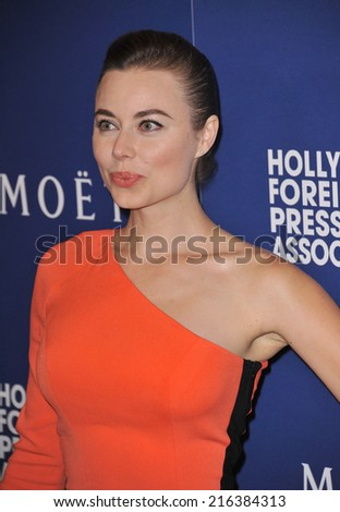 BEVERLY HILLS, CA - AUGUST 14, 2014: Actress Dasha Herman at the Hollywood Foreign Press Association's annual Grants Banquet at the Beverly Hilton Hotel.  - stock photo