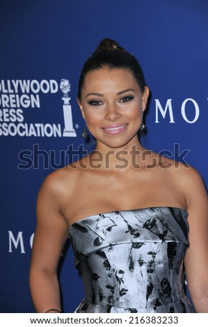 BEVERLY HILLS, CA - AUGUST 14, 2014: Actress Jessica Parker Kennedy at the Hollywood Foreign Press Association's annual Grants Banquet at the Beverly Hilton Hotel.  - stock photo