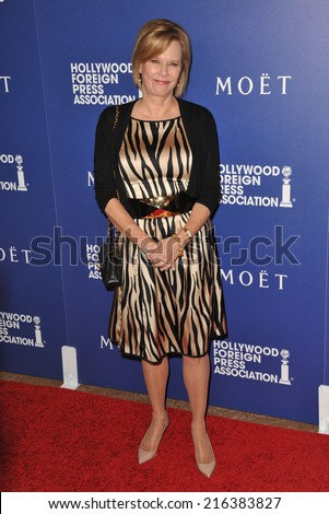 BEVERLY HILLS, CA - AUGUST 14, 2014: Actress JoBeth Williams at the Hollywood Foreign Press Association's annual Grants Banquet at the Beverly Hilton Hotel.  - stock photo