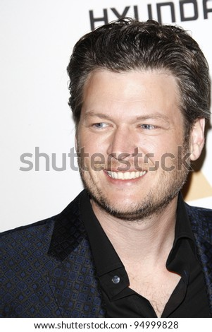 BEVERLY HILLS, CA - FEB 11: Blake Shelton at the Clive Davis and the Recording Academy's 2012 Pre-GRAMMY Gala on February 11, 2012 in Beverly Hills, California - stock photo