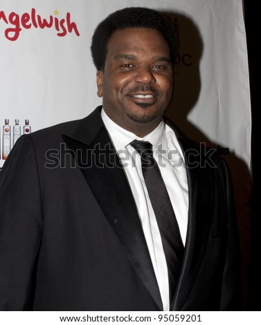 BEVERLY HILLS, CA - FEBRUARY 12: Craig Robinson attends the Grammy after party at the Playboy Mansion on February 12, 2012 in Beverly Hills, California. (Photo by Jonathan S. Nowak) - stock photo