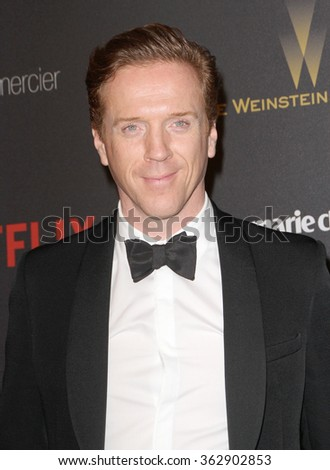 BEVERLY HILLS, CA - JAN. 10: Damian Lewis arrives at the Weinstein Company and Netflix 2016 Golden Globes After Party on Sunday, January 10, 2016 at the Beverly Hilton Hotel in Beverly Hills, CA.  - stock photo