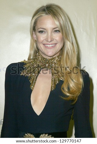 BEVERLY HILLS, CA - JAN. 13: Kate Hudson arrive at the Weinstein Company's 2013 Golden Globes After Party on Sunday, January 13, 2013 at the Beverly Hilton Hotel in Beverly Hills, CA. - stock photo