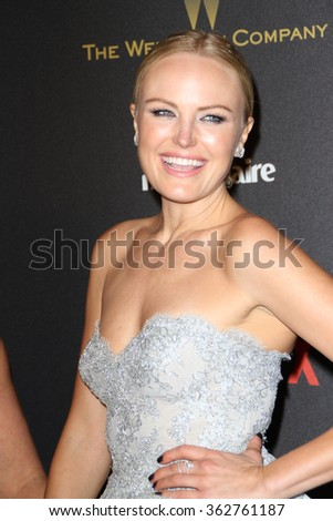 BEVERLY HILLS, CA - JAN. 10: Malin Akerman arrives at the Weinstein Company and Netflix 2016 Golden Globes After Party on Sunday, January 10, 2016 at the Beverly Hilton Hotel in Beverly Hills, CA.  - stock photo