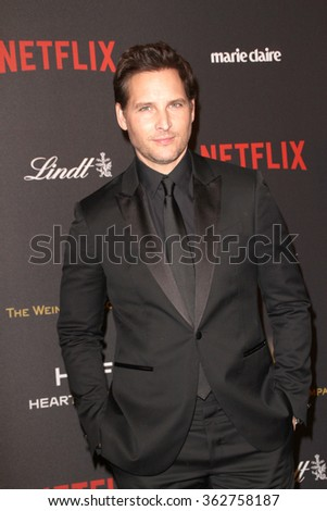 BEVERLY HILLS, CA - JAN. 10: Peter Facinelli arrives at the Weinstein Company and Netflix 2016 Golden Globes After Party on Sunday, January 10, 2016 at the Beverly Hilton Hotel in Beverly Hills, CA.  - stock photo
