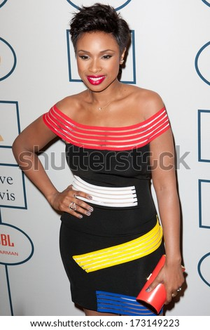 BEVERLY HILLS, CA. - JANUARY 25: Jennifer Hudson arrives at the Clive Davis and The Recording Academy annual Pre-GRAMMY Gala on January 25th 2014 at the Beverly Hilton in Beverly Hills, California. - stock photo