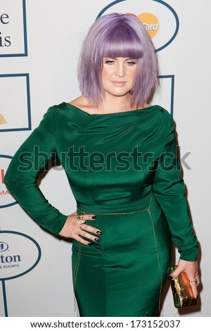 BEVERLY HILLS, CA. - JANUARY 25: Kelly Osbourne arrives at the Clive Davis and The Recording Academy annual Pre-GRAMMY Gala on January 25th 2014 at the Beverly Hilton in Beverly Hills, California. - stock photo
