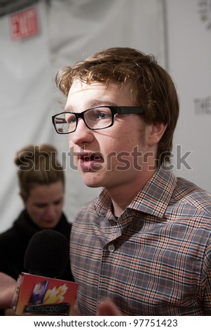 BEVERLY HILLS, CA - MARCH 12: Angus T. Jones attends the Paley Fest 2012 at the Saban Theatre on March 12, 2012 in Beverly Hills, California. - stock photo