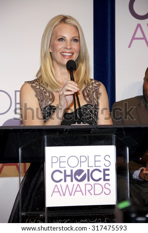 BEVERLY HILLS, CA - NOVEMBER 15, 2012: Monica Potter at the People's Choice Awards 2013 Nominations held at the Paley Center in Beverly Hills, USA on November 15, 2012. - stock photo
