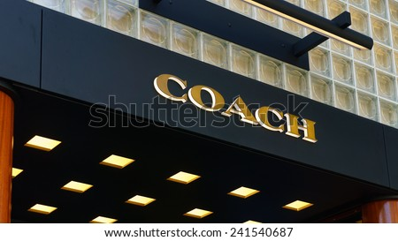 BEVERLY HILLS, CA/USA - JANUARY 3, 2015: Coach retail store exterior. Coach, Inc. is a New York-based luxury fashion company that got its start manufacturing small leather goods. - stock photo