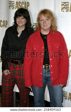 BEVERLY HILLS, CALIFORNIA. May 16, 2005. Indigo Girls attend at the 22nd Annual ASCAP Pop Music Awards at the Beverly Hilton Hotel in Beverly Hills, California. - stock photo