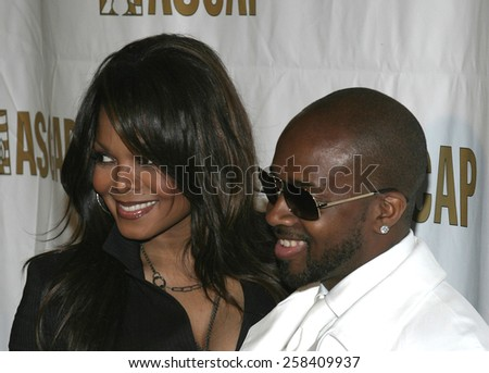 BEVERLY HILLS, CALIFORNIA. May 16, 2005. Janet Jackson and Jermaine Dupri attend at the 22nd Annual ASCAP Pop Music Awards at the Beverly Hilton Hotel in Beverly Hills, California. - stock photo
