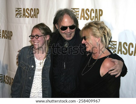 BEVERLY HILLS, CALIFORNIA. May 16, 2005. Neil Young attends at the 22nd Annual ASCAP Pop Music Awards at the Beverly Hilton Hotel in Beverly Hills, California. - stock photo