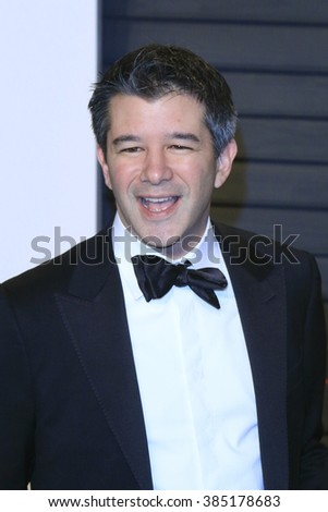 BEVERLY HILLS - FEB 28: Travis Kalanick at the 2016 Vanity Fair Oscar Party on February 28, 2016 in Beverly Hills, California - stock photo