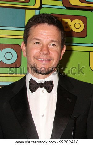 BEVERLY HILLS - JAN 16: Mark Wahlberg arrives at the HBO Golden Globe Party 2011 at Circa 55 at the Beverly Hilton Hotel on January 16, 2011 in Beverly Hills, CA - stock photo