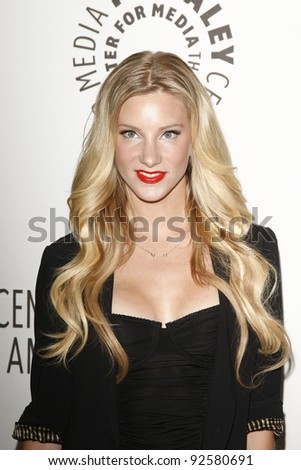 BEVERLY HILLS - MAR 16:  Heather Morris arriving at the 2011 PaleyFest honoring 'Glee' held at the Saban Theater in Beverly Hills on March 16, 2010. - stock photo