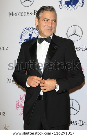 BEVERLY HILLS - OCT 20:  George Clooney at the 26th Carousel Of Hope Ball at The Beverly Hilton Hotel on October 20, 2012 in Beverly Hills, California - stock photo