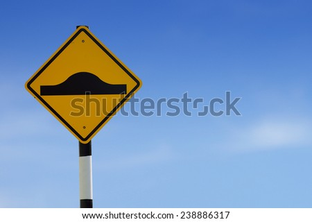 Beware surface roughness Road Sign - stock photo