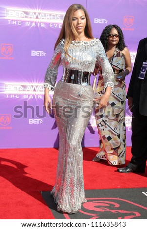 Beyonce Knowles arriving at the 2007 BET Awards. The Shrine Auditorium, Los Angeles, CA. 06-26-07 - stock photo