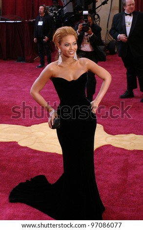 BEYONCE KNOWLES at the 77th Annual Academy Awards at the Kodak Theatre, Hollywood, CA February 27, 2005; Los Angeles, CA.  Paul Smith / Featureflash - stock photo
