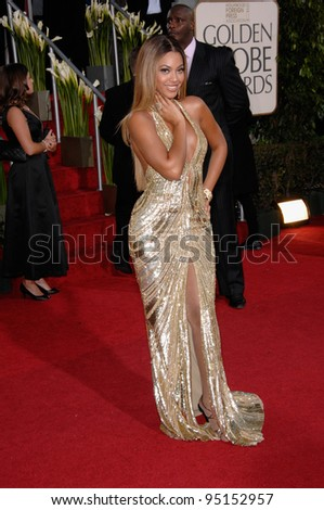 BEYONCE KNOWLES at the 64th Annual Golden Globe Awards at the Beverly Hilton Hotel. January 15, 2007 Beverly Hills, CA Picture: Paul Smith / Featureflash - stock photo
