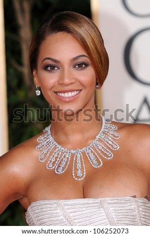 Beyonce Knowles at the 66th Annual Golden Globe Awards. Beverly Hilton Hotel, Beverly Hills, CA. 01-11-09 - stock photo