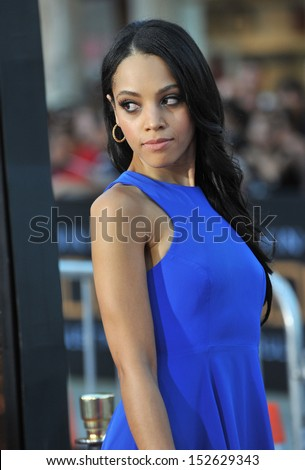 """Bianca Lawson at the world premiere of """"Riddick"""" at the Regency Village Theatre, Westwood. August 28, 2013  Los Angeles, CA - stock photo"""