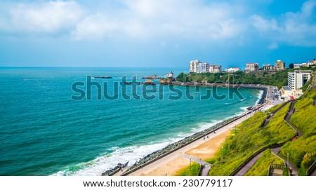 Biarritz beach, France - stock photo