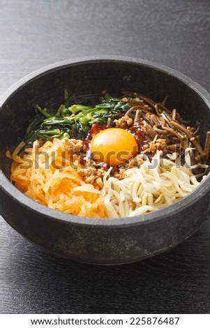 bibimbap , korean dish - stock photo