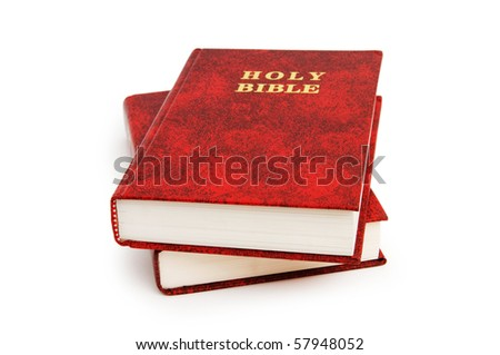 Bible book isolated on the white background - stock photo