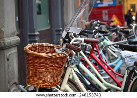 Bicycle basket - stock photo
