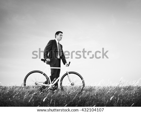 Bicycle Bike Business Energy Saving Conservative Concept - stock photo