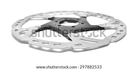 bicycle brake rotor  - stock photo