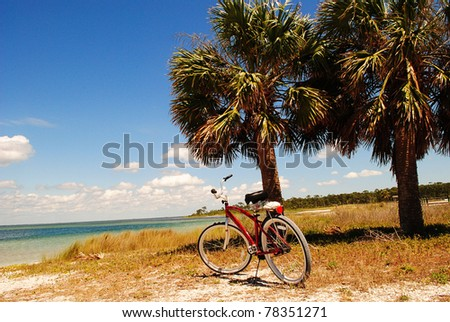 Bicycle by the bay - stock photo