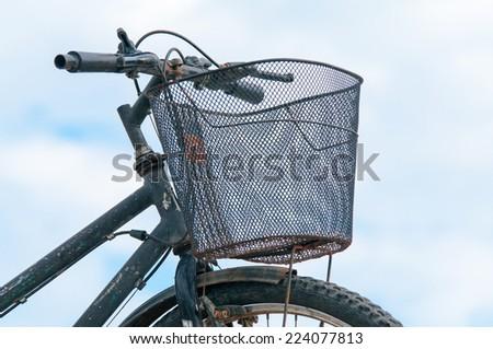 bicycle handlebars - stock photo