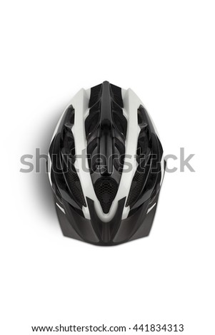Bicycle Helmet, Head Safety. View from the top. With clipping path - stock photo