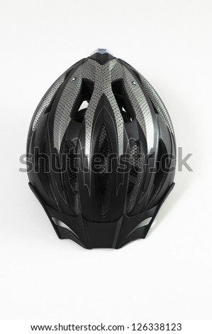 Bicycle helmet on a white background - stock photo