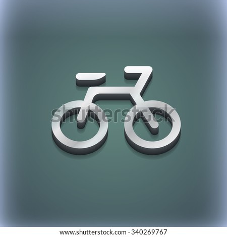 Bicycle icon symbol. 3D style. Trendy, modern design with space for your text illustration. Raster version - stock photo