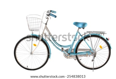 Bicycle. Isolate  on white background. - stock photo