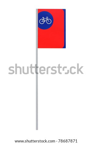 bicycle parking sign on white background - stock photo