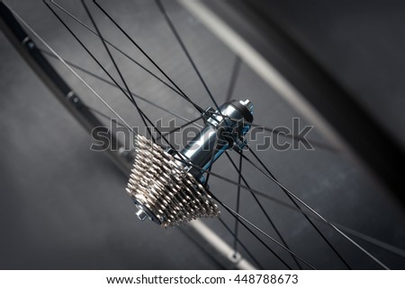 Bicycle rear wheel - stock photo