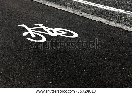 bicycle road sign - stock photo