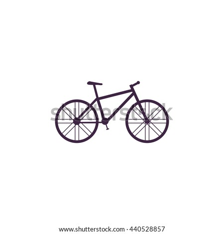 Bicycle. Simple blue icon on white background - stock photo