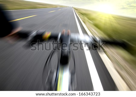 Bicycle speed - stock photo
