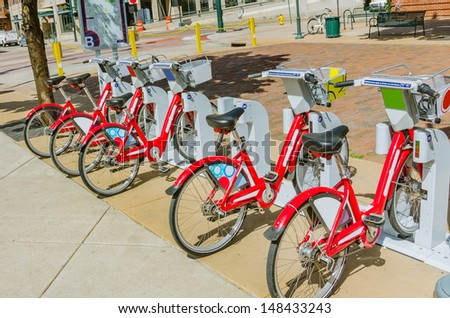 Bicycles for Hiring - stock photo