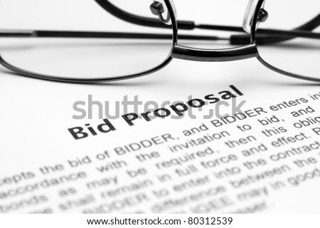 Bid proposal - stock photo