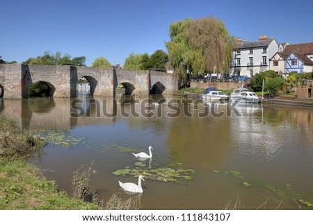 Bidford on Avon, Warwickshire, England - stock photo